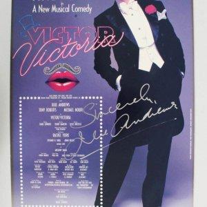 Julie Andrews Signed Poster Victor/Victoria Musical - COA JSA