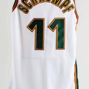 1997-98 Detlef Schrempf Game-Worn, Signed Seattle Supersonics Jersey - COA 100% Authentic Team