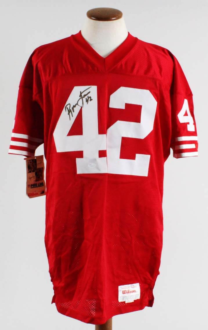 separation shoes 118fa 01b53 Ronnie Lott Signed San Francisco 49ers Authentic Pro Line Wilson Jersey -  COA JSA