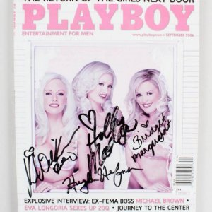 Hugh Hefner Signed Playboy Magazine & The Girls Next Door - COA JSA