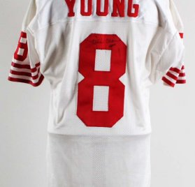 Steve Young Game-Worn, Signed San Francisco 49ers Jersey - COA 100% Team Graded 11/20, Player Letter, JSA