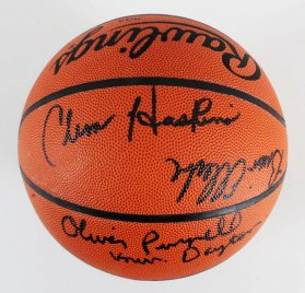 College Coaches Signed Basketball w/Clem Haskins, Brian Ellerbe, etc. - COA
