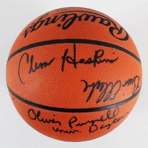 NCAA Coaches Signed Basketball - Clem Haskins, Brian Ellerbe, etc. - COA