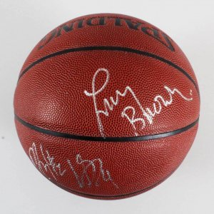 Larry Brown Signed Basktball - COA