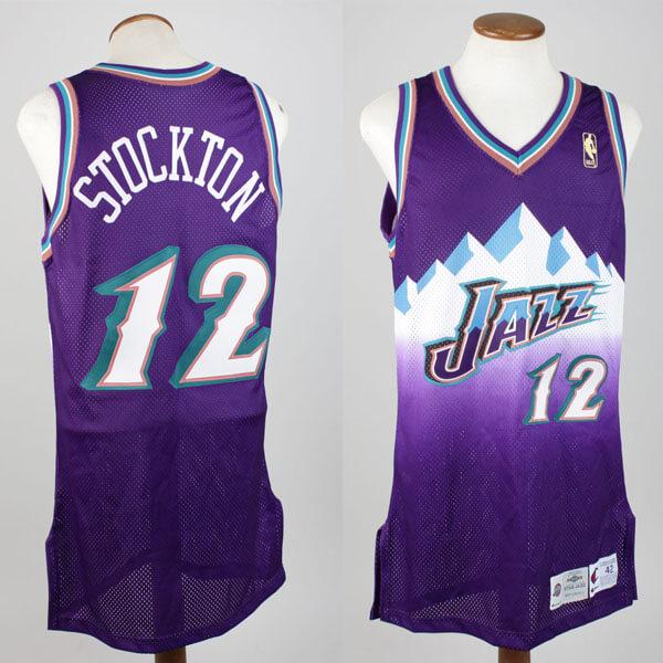 c0125756a831 John Stockton Utah Jazz 1996-97 Game-Worn Jersey