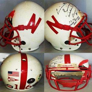 2002 Erwin Swiney Game-Worn, Signed National Championship Nebraska Cornhuskers Helmet - COA 100% Team