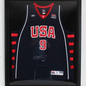 "LeBron James Signed Team USA Jersey 35.25"" x 43.25"" Display - COA UDA"