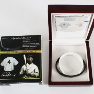 Lou Gehrig Game-Used Jersey Bracelot-New Relic Legends of Baseball