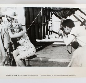 Original Marilyn Monroe 8x10 The Misfits Wire Photo - Movie Press Stamped Hearst Photo