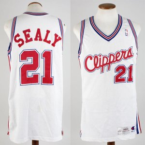 1994-95 Los Angeles Clippers - Malik Sealy Game-Worn Home Jersey - COA