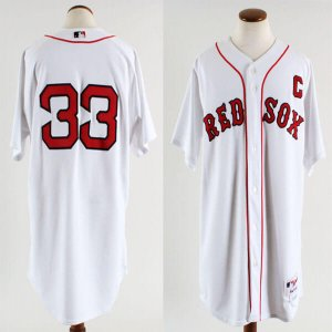 2005 Boston Red Sox Jason Varitek Game-Worn Home Jersey (Feat. Captain's & 2004 World Series Champions Patch)- COA