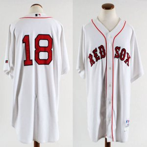2004 Boston Red Sox - Johnny Damon Game-Worn Home Jersey - COA