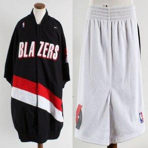 1997-98 Isaiah J.R. Rider Game-Worn Jacket & Shorts Blazers - COA