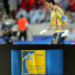 An Iker Casillas Game-Used Captain Armband Spain National Team FIFA World Cup 2006
