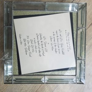 Motley Crue Wedding Remembrance Photo Box with Invitation COA Sharise Neil