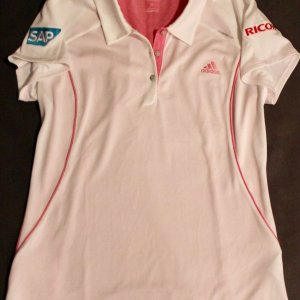 A Paula Creamer Game-Used Custom Adidas Golf Shirt.  2012 LPGA Season.