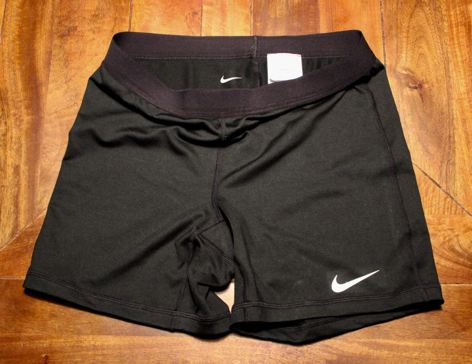 A Pair of Serena Williams Game-Used Custom Nike Tennis Training Shorts.  2016 WTA Season.