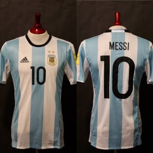 A Lionel Messi Game-Used #10 Argentina National Team Home Shirt.  2018 FIFA World Cup Qualifiers.