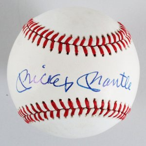 Mickey Mantle New York Yankees Signed OAL Baseball - JSA