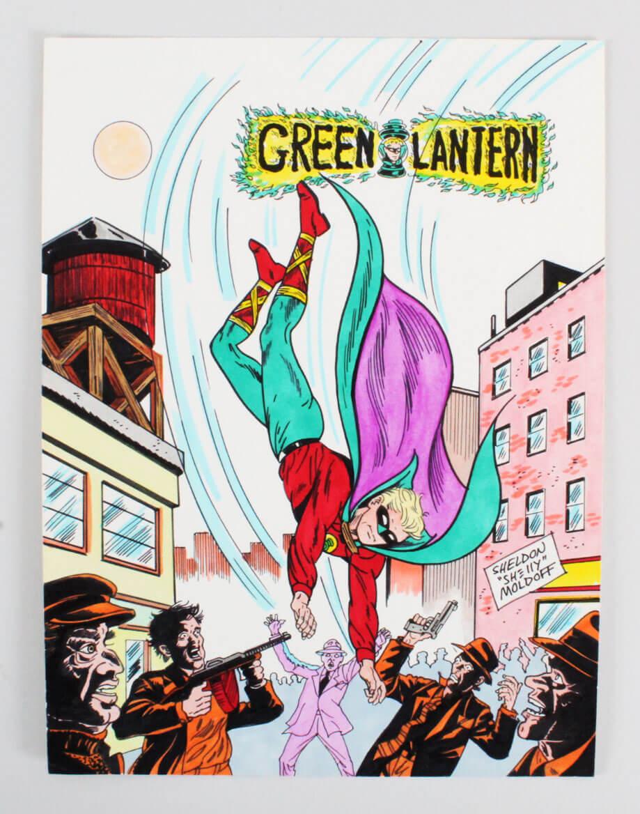 "Sheldon ""Shelly"" Moldoff Original Green Lantern Art 9x12"