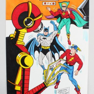 "Sheldon ""Shelly"" Moldoff Original Batman Art 9x12"""