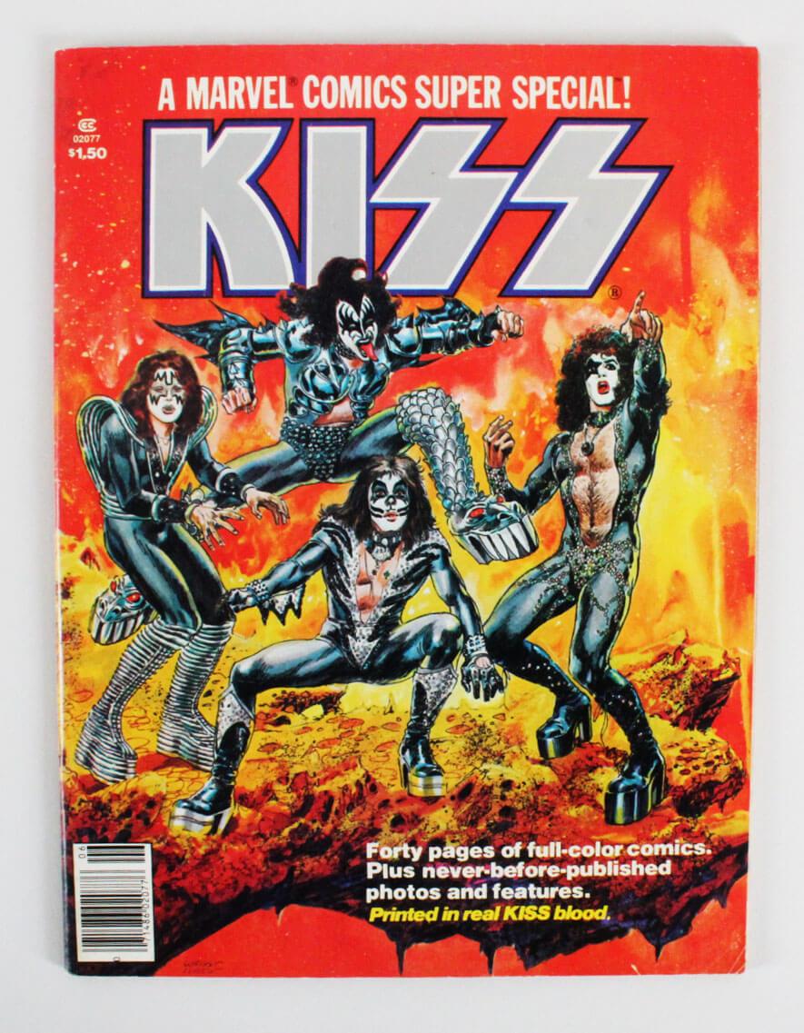 1977 KISS Comic Book Printed in Real KISS Blood
