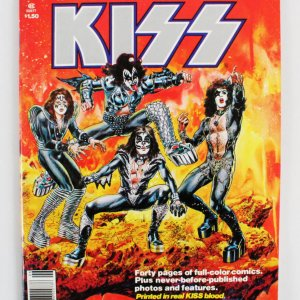 1977 KISS Comic Book Printed in Real KISS Blood