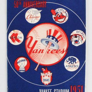 1951 Yankees Regular Season Program (Mantle First Year #6 & feat. Joe DiMaggio)