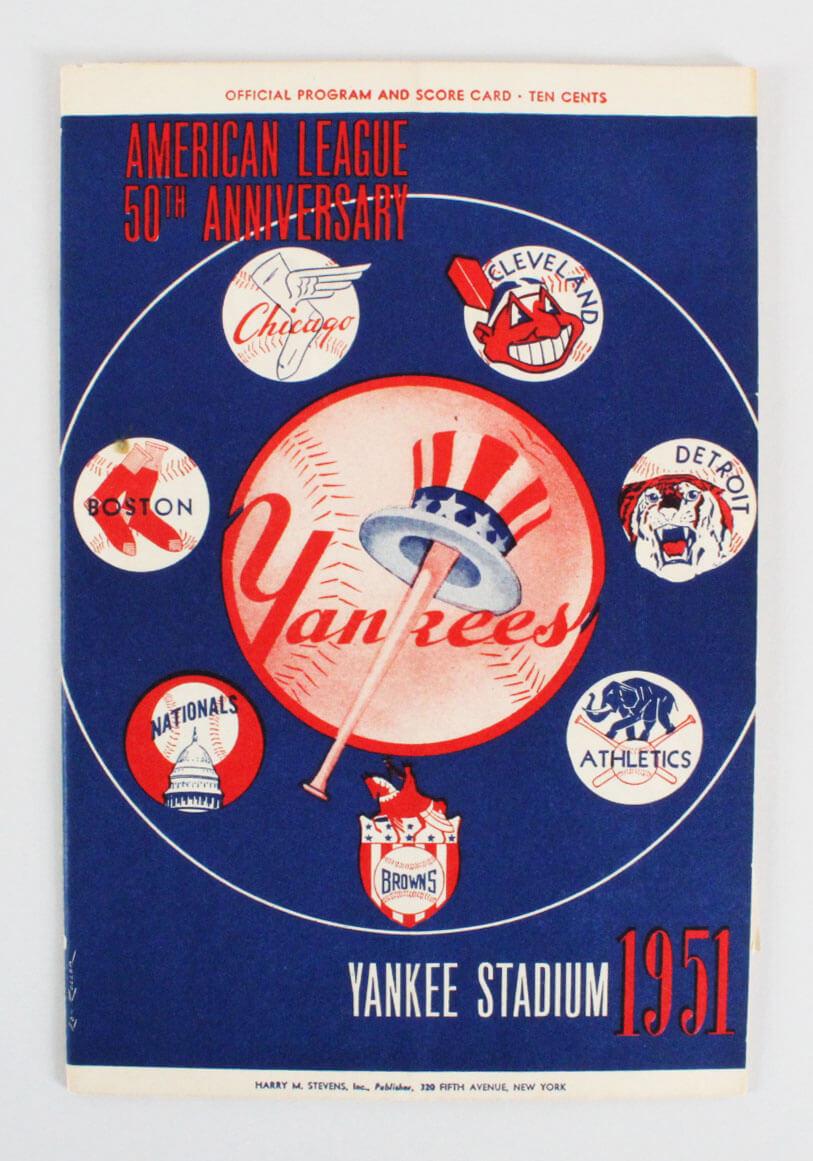 1951 Yankees Regular Season Program (Mantle First Year #6 & feat. Joe DiMaggio)