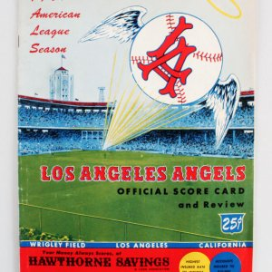 1961 Los Angeles Angels Program Score Card (Inaugural Year)