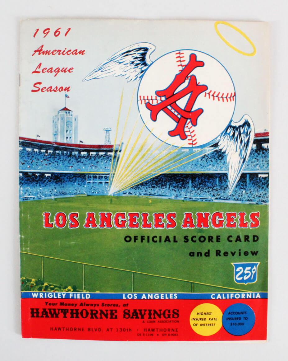 1961 Los Angeles Angels Program Score Card (Inaugural Year)