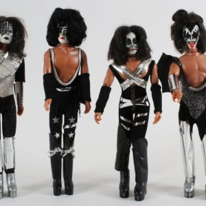 Vintage Late 1970's Mego KISS Doll Set (4) Gene Simmons, Ace Frehley, Paul Stanley & Peter Criss