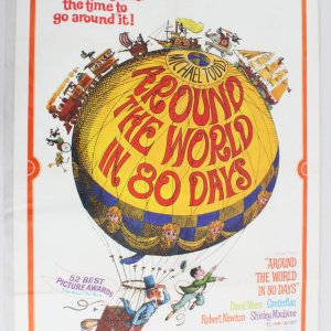 Around the World in 80 Days One Sheet Movie Poster R 68-81