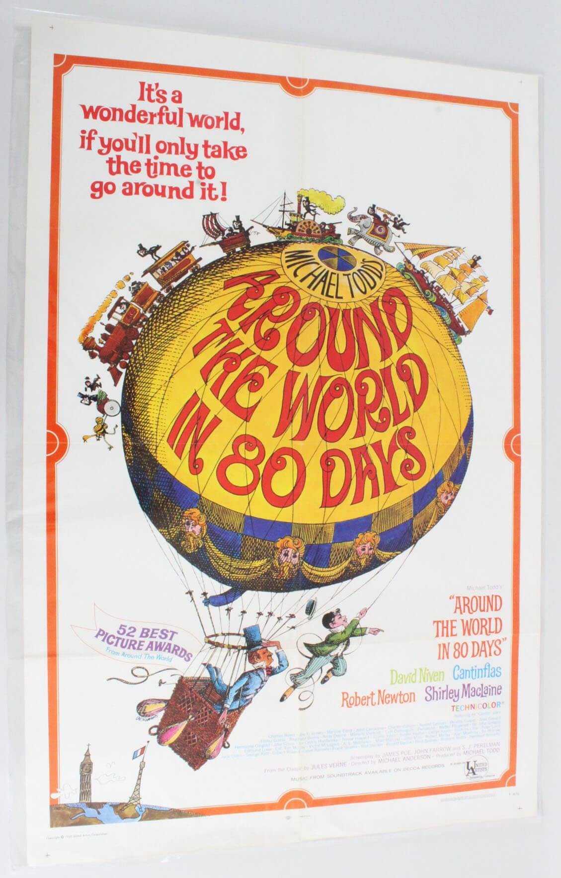 Around the World in 80 Days One Sheet Movie Poster R 68-81