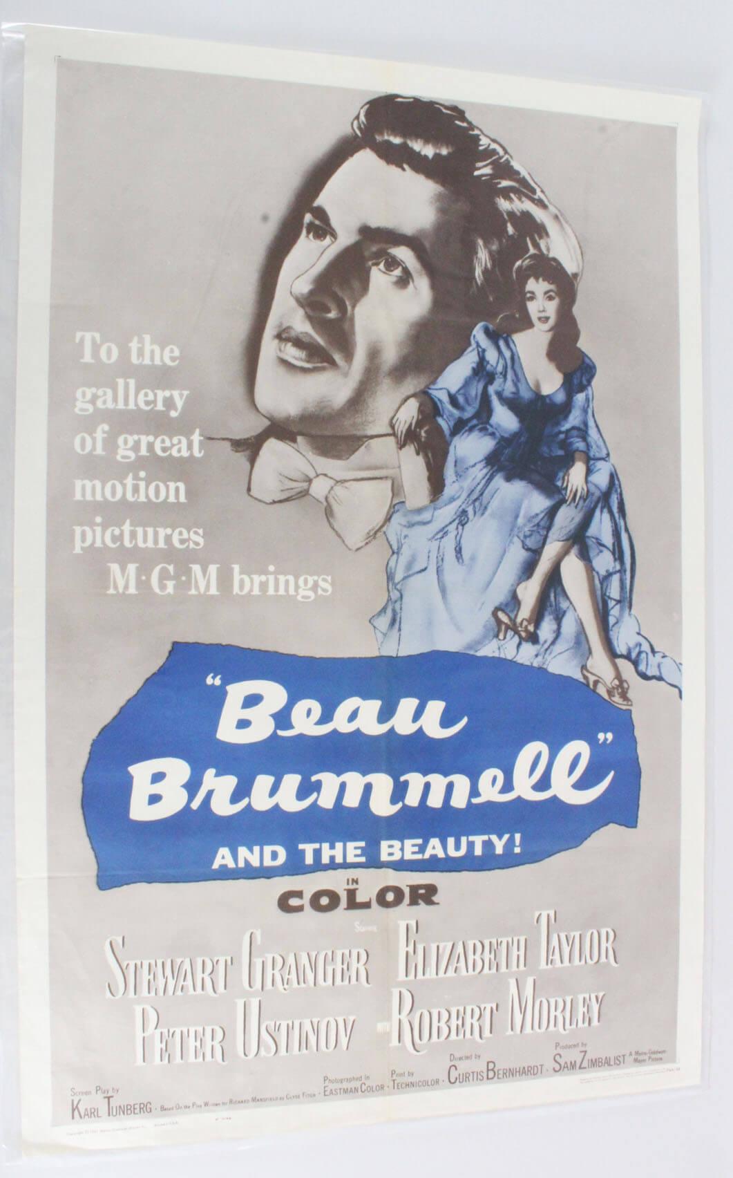 BEAU BRUMMELL One Sheet Movie Poster R62/33