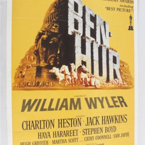 BEN-HUR One Sheet Movie Poster R 69/121 1960 Charlton Heston