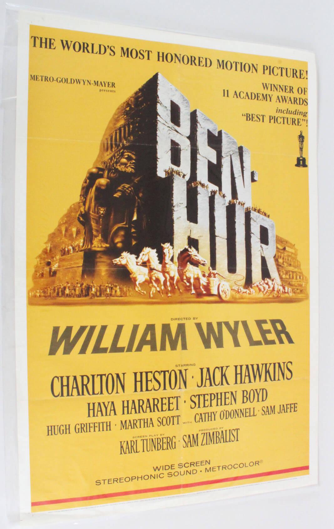 BEN-HUR One Sheet Movie Poster R 69/121 1960 Charlton Heston