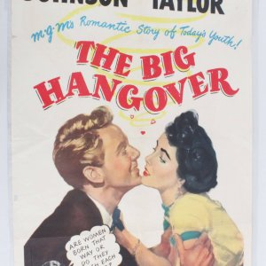 1950 BIG HANGOVER One Sheet 50/241 Elizabeth Taylor & Van Johnson