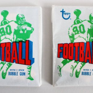 1972 Topps Football Un-Opened Wax Pack (1) & (1) Opened Wax Pack