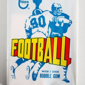 1972 Topps Football Un-Opened Wax Pack