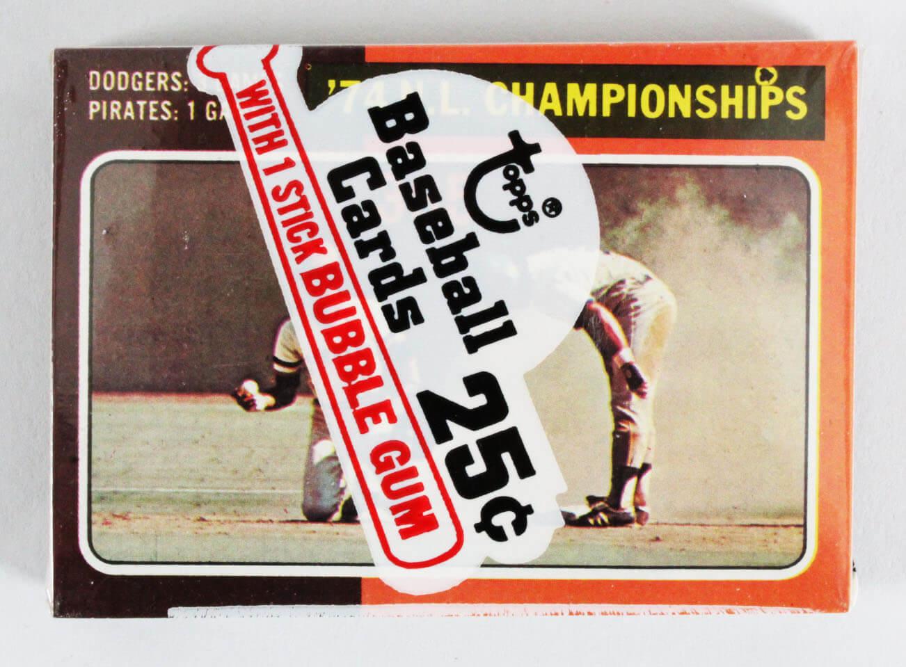 1975 Topps Mini Cello Pack w/ Stars incl. Mickey Lolich, Dodgers & Pirates etc.