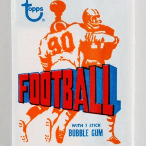 1972 Topps Football Un-Opened Wax Pack Roger Staubach Rookie Card on Back