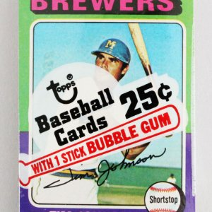 1975 Topps Mini Cello Baseball Card Pack Sealed w/ Stars incl. Tim Johnson etc.