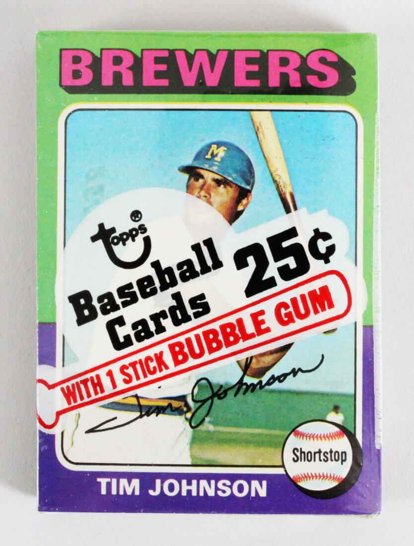 1975 Topps Mini Cello Baseball Card Pack Sealed w/ Stars incl. Tim Johnson etc.