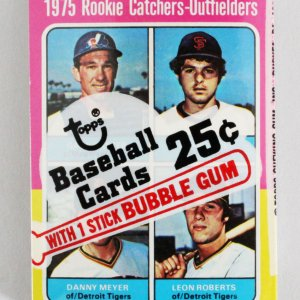 1975 Topps Mini Cello Baseball Card Pack Sealed w/ Stars incl. Gary Carter Rookie RC, Tommy John etc.