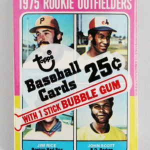 1975 Topps Mini Cello Baseball Card Pack Sealed w/ Stars incl. Jim Rice Rookie RC etc.