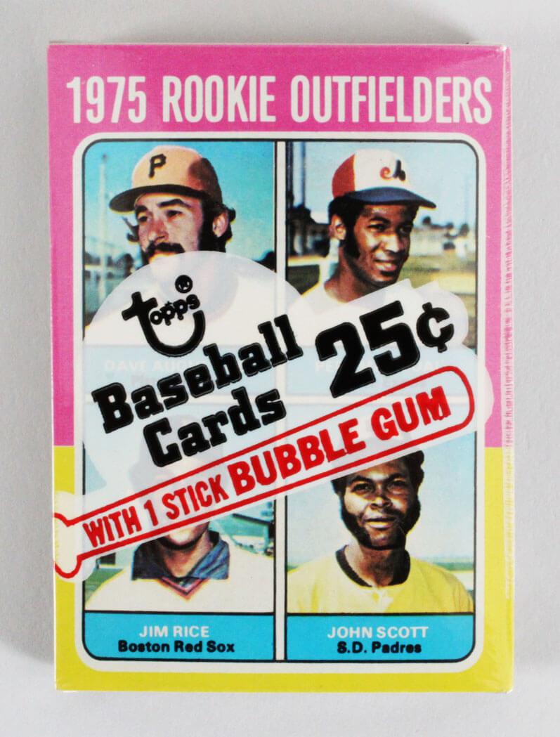 1975 Topps Mini Cello Baseball Card Pack Sealed w/ Stars incl. Jim Rice Rookie RC etc.
