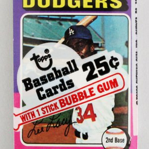 1975 Topps Mini Cello Baseball Card Pack Sealed w/ Stars incl. Lee Lacy etc.