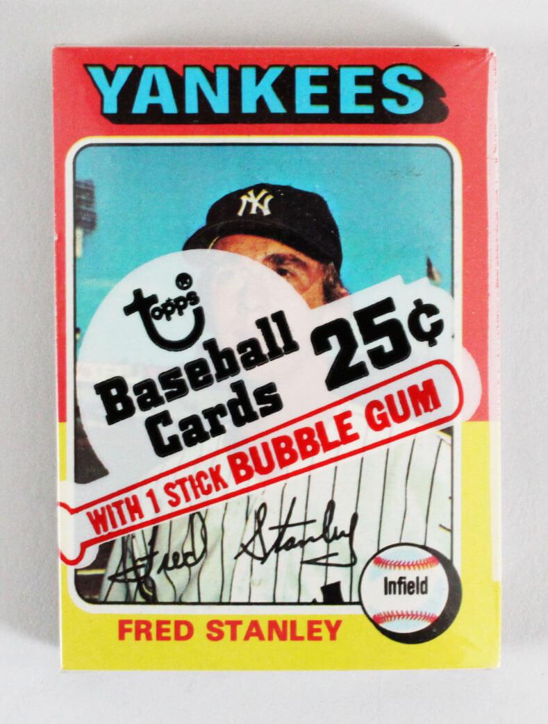 1975 Topps Mini Cello Baseball Card Pack Sealed w/ Stars incl. Fred Stanley, Cleon Jones etc.