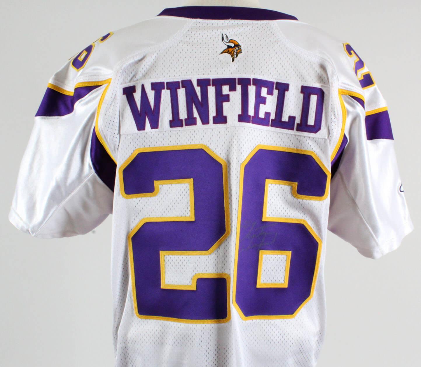 hot sale online 9bde5 9a830 Antoine Winfield Game-Worn Jersey Signed Vikings – COA 100% Team |  Memorabilia Expert